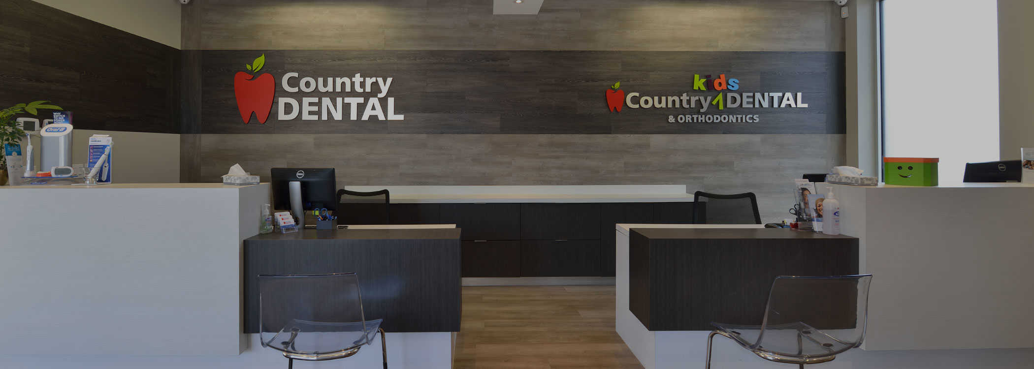 Cambridge dental clinic reception at Country Dental Clinic