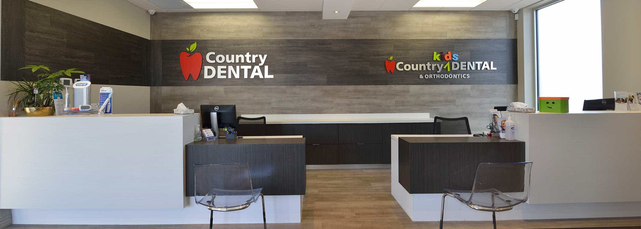 Reception at Country Dental & Kid's Dental clinic
